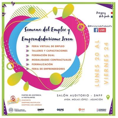 """Se viene la """"Semana del Empleo y Emprendedurismo Juvenil"""" con 792 vacancias laborales"""