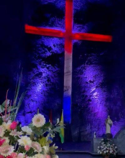 Réplica de la Virgen de Caacupé será entronizada en la imponente Catedral de Sal de Colombia