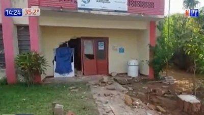 Militar presuntamente ebrio atropella local del Correo en Paraguarí