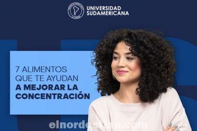 Alimentos recomendados para mantener en forma el cerebro y no perder la concentración, sugeridos por Universidad Sudamericana