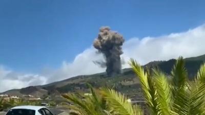 Alerta en España: entró en erupción el volcán Cumbre Vieja de la isla de La Palma