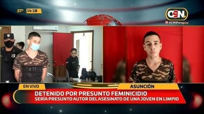 Detienen a sospechoso de feminicidio en Limpio