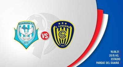 Clausura: Sportivo Luqueño y Guaireña en busca de los tres puntos