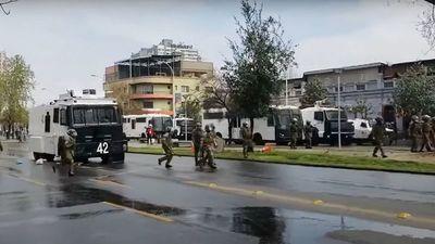 Incidentes y detenidos en desfile militar en Chile