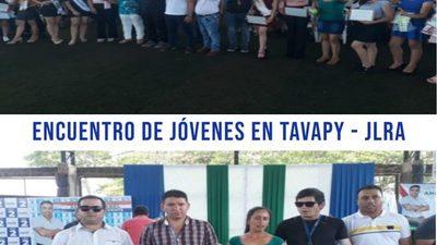 MULTITUDINARIO ENCUENTRO POR EL  DÍA DE LA JUVENTUD EN TAVAPY