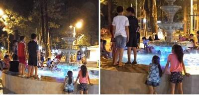 Fuente de agua de la Plaza San Roque fue utilizada como piscina – Prensa 5