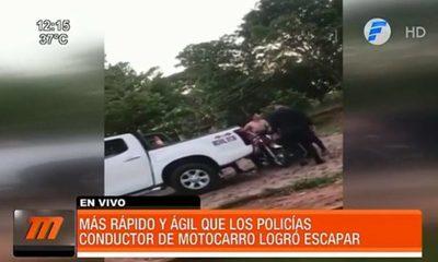 """Conductor de """"motocarro"""" logró escapar de la policía"""