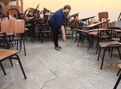 Persisten pésima infraestructura escolar, baja presencialidad y robos