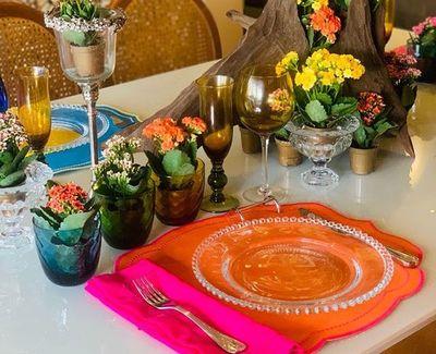 Explosión de colores, frescura y la mesa bien puesta