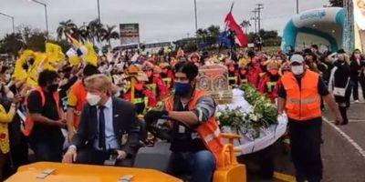 Chiquitunga volvió a su país