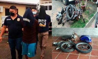 Aprehenden a presuntos autores de varios hechos de robo de motocicleta en Coronel Oviedo – Prensa 5