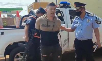 """""""Paraguayito Alegre"""" fue detenido tras enfrentamiento con manifestantes en Caaguazú – Prensa 5"""