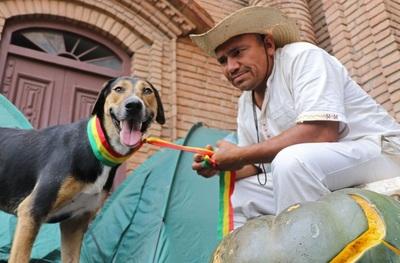 Penoco, el perro marchista que acompañó la caminata de indígenas bolivianos