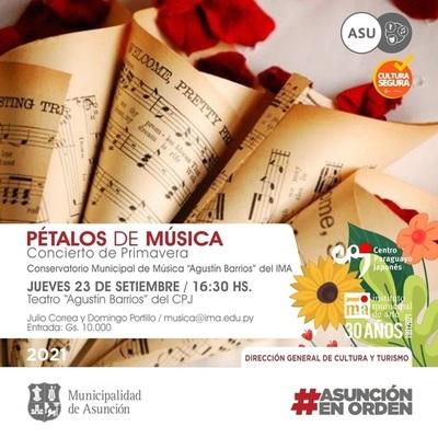 """""""Pétalos de música"""" del IMA este jueves en el Centro Paraguayo Japonés"""