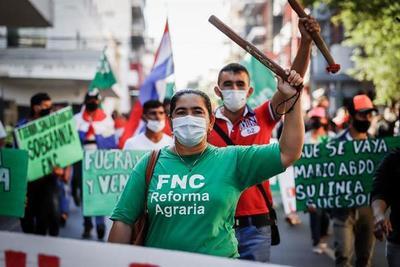 FNC marcha contra proyecto que busca elevar pena por 'invasión' de tierras