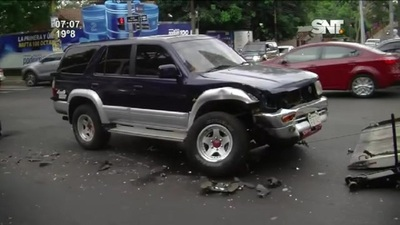 Accidente de tránsito sobre la Avda. Mcal. López