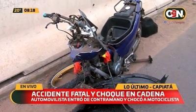 Accidente fatal y choque en cadena en Capiatá