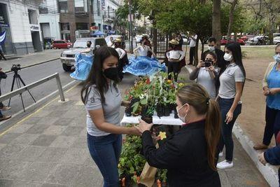 Hay flores pero no agua para regarlas en las plazas, asegura municipalidad