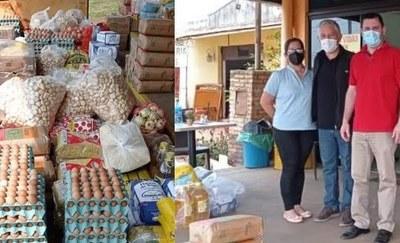 Gobernación de Caazapá entrega alimentos a hospitales