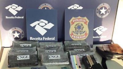 Dos paraguayos caen con 12 kilos de cocaína en Brasil