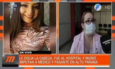 Le dolía la cabeza, fue al hospital y murió