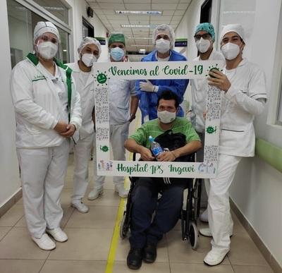 Hospital Ingavi del IPS dio de alta a sus últimos pacientes COVID