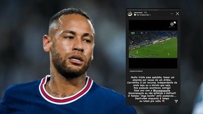 Neymar se indigna por amarilla mostrada a Lucas Paquetá