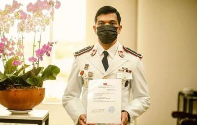 Oficial del Grupo Lince fue becado para una maestría en Taiwán
