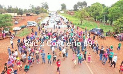 Corte intermitente de ruta en varios sectores de Alto Paraná