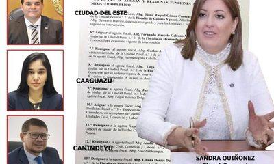 Fiscala General del Estado dispone cambios de fiscales en el Este para optimizar funciones – Diario TNPRESS