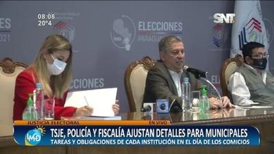 TSJE, Policía y Fiscalía ajustan detalles para elecciones municipales