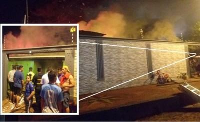 Vivienda de policía se incendia en Presidente Franco