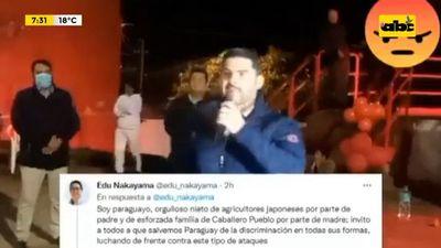 Eduardo Nakayama denuncia xenofobia de Óscar Nenecho Rodríguez