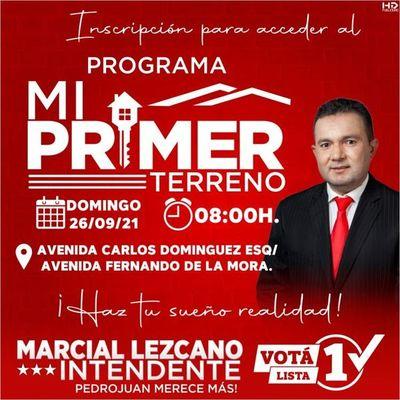 "Lista 1 convoca a inscripción al ""Programa Mi Primer Terreno "" en Pedro Juan Caballero"
