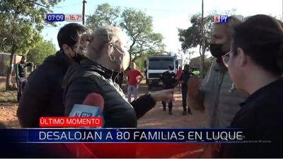 Unas 80 familias son desalojadas de una propiedad en Luque