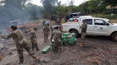 Queman cerca de 3.000 kilos de droga en Curuguaty