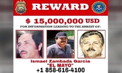 Aumentan recompensa por Ismael 'El mayo' Zambada