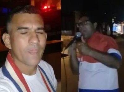 Agitadores salen con parlantes para defender el lucrativo negocio de invasiones en Pedro Juan