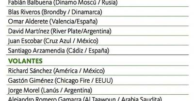 La Nación / Varios retornos en la lista del exterior