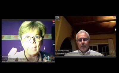 Senador Zavala evita hablar tras escandalosa discusión con su colega Desirée Masi