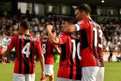 Primer partido como titular en Serie A y primer gol con el Milan de Daniel Maldini