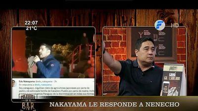 """Nakayama sobre Nenecho: """"No puede pues ser un aparato así tu intendente"""""""
