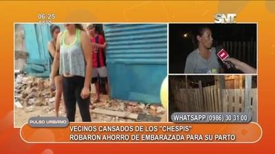 Vecinos del barrio San Cayetano están cansados de los robos