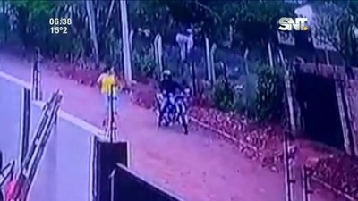 Asalto de 'motochorros' fue captado en video
