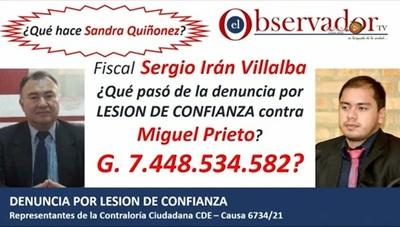 """""""¿Qué pasó de los 7.448.500.000?"""": Contraloría Ciudadana interpela a Prieto por millonaria malversación"""