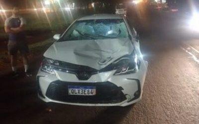 Peatón muere tras ser embestido por un automóvil en el km 4 de CDE