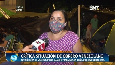IPS Central: Crítica situación de un obrero venezolano