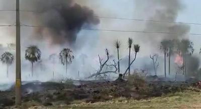 COPACO y VOX sufren cortes de servicios por quemazón de pastizales en Concepción y Boquerón