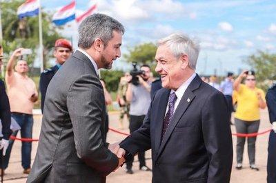 Presidente de Chile llega hoy a nuestro país y el martes se reúne con Abdo