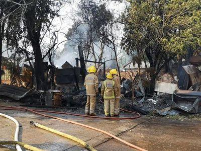 Incendio en taller de refrigeración de Fernando de la Mora